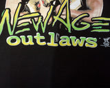 WWF NEW AGE OUTLAWS LADIES AND GENTLEMEN T-SHIRT LG