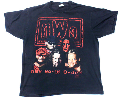 WCW NWO WOLFPAC FACES VINTAGE T-SHIRT XL