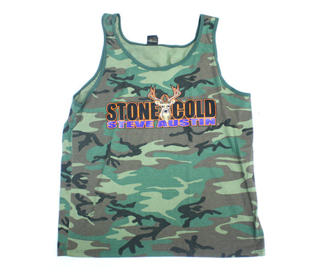 WWF Stone Cold Steve Austin Camoflauge Tanktop at Stashpages