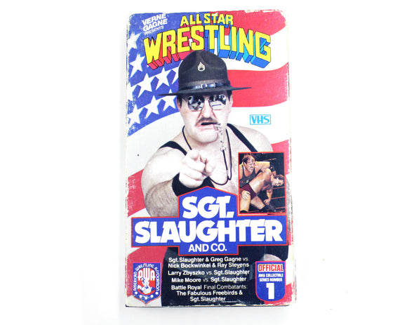 AWA SGT SLAUGHTER & CO. VHS TAPE