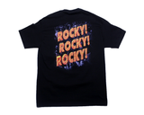 "WWF THE ROCK ""ROCKY ROCKY ROCKY"" T-SHIRT LG"