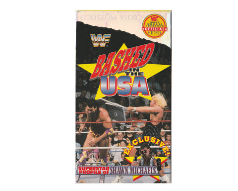 WWF BASHED IN THE USA VHS TAPE