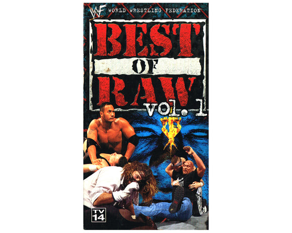 WWF BEST OF RAW VOL. 1 VHS TAPE