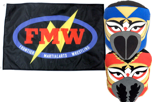 HAYABUSA PILLOW + FMW FLAG COMBO