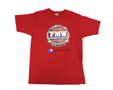 FMW ENTERTAINMENT RED T-SHIRT LG