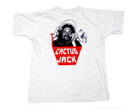 CACTUS JACK BORN TO BE WIRED *SIGNED* GRAY SHIRT LG