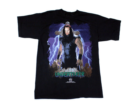 WWF UNDERTAKER LIGHTNING T-SHIRT LG