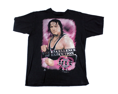 WWF BRET HART EXCELLENCE OF EXECUTION T-SHIRT XL