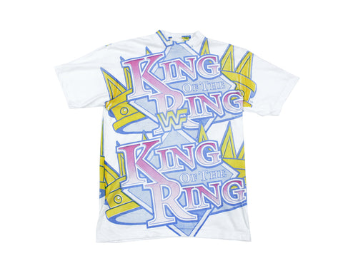 WWF KING OF THE RING ALL-OVER PRINT T-SHIRT XL