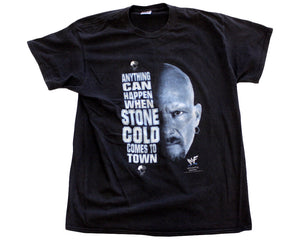 WWF STONE COLD ANYTHING CAN HAPPEN T-SHIRT LG