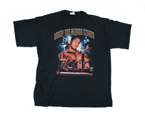WWF THE ROCK LAYIN THE SMACKDOWN T-SHIRT 3XL
