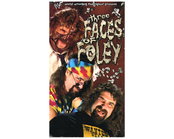 WWF THREE FACES OF FOLEY VHS TAPE
