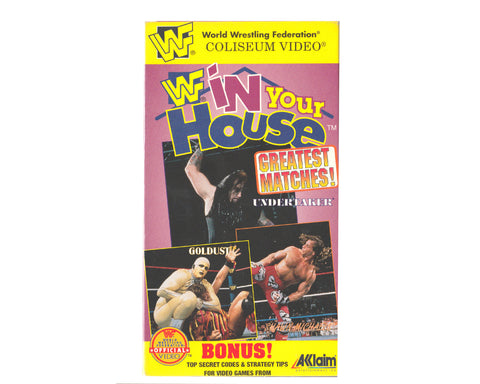 WWF IN YOUR HOUSE GREATEST MATCHES VHS TAPE