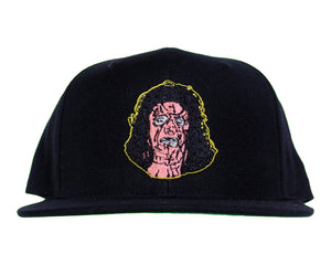 LEATHER FACE EMBROIDERED HAT