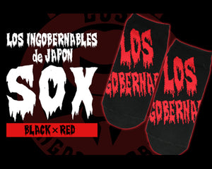 NJPW LOS INGOBERNABLES BLACK/RED SOCKS