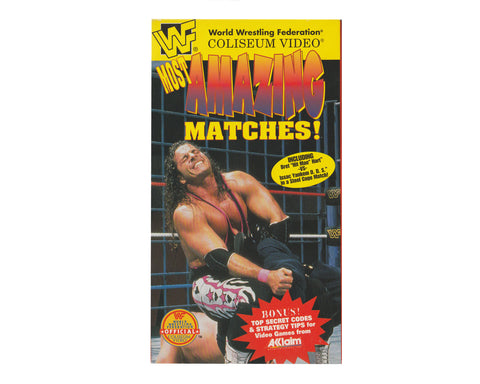 WWF MOST AMAZING MATCHES MATCHES VHS TAPE