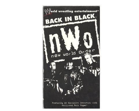 WWE NWO BACK IN BLACK VHS TAPE