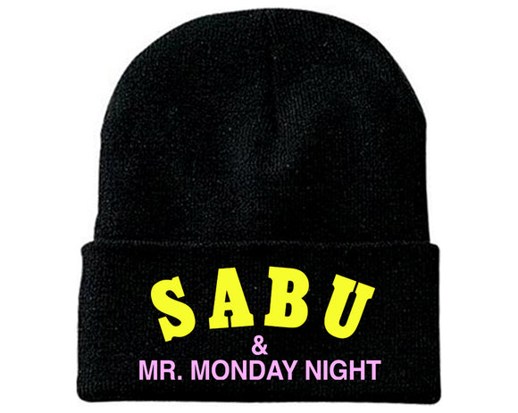 SABU & MR MONDAY NIGHT EMBROIDERED BEANIE