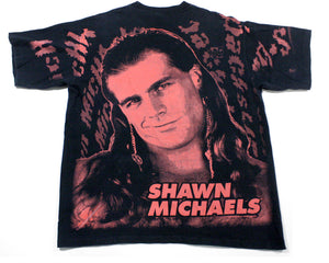 WWF SHAWN MICHAELS ALL-OVER PRINT T-SHIRT XL