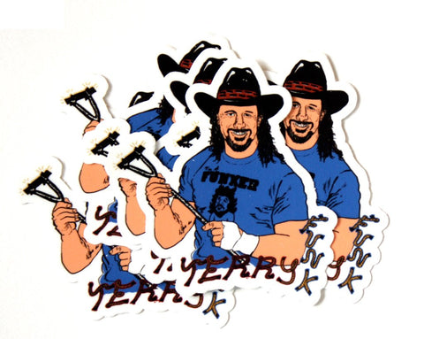 TERRY FUNK STICKERS 5-PACK