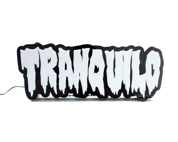 [DAMAGE & SCRATCH] TRANQUILO ACRYLIC SIGN (SMALL) #003