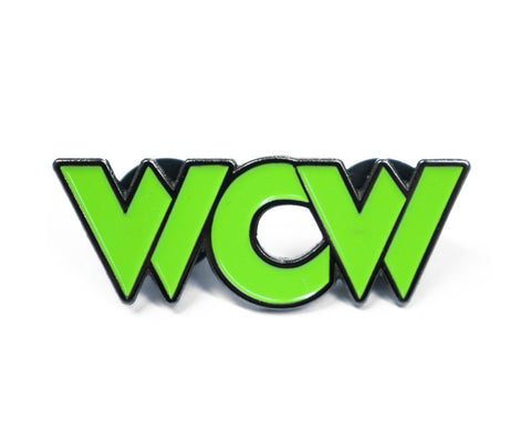 WCW GREEN LOGO PIN