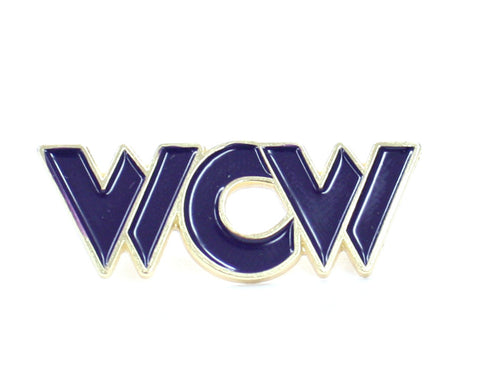 WCW PURPLE LOGO PIN