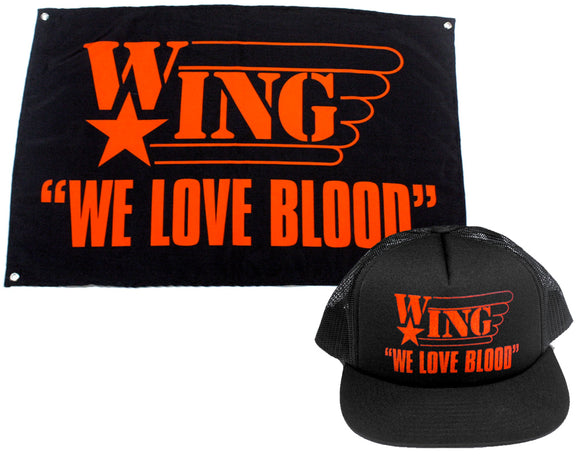 WE LOVE BLOOD HAT + FLAG BUNDLE