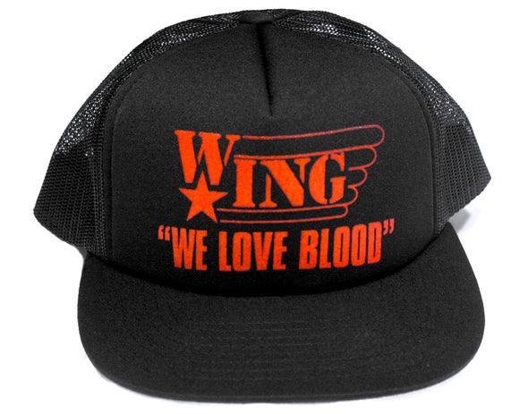 WE LOVE BLOOD W*ING SNAPBACK HAT