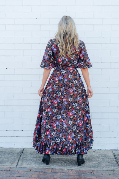 Flower child wrap dress