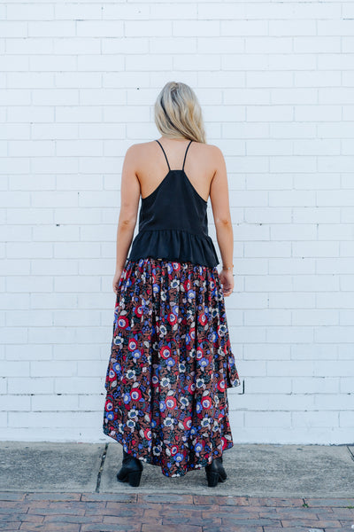 Wild flower frill skirt