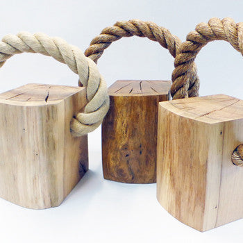 Oak & Rope Door Stop