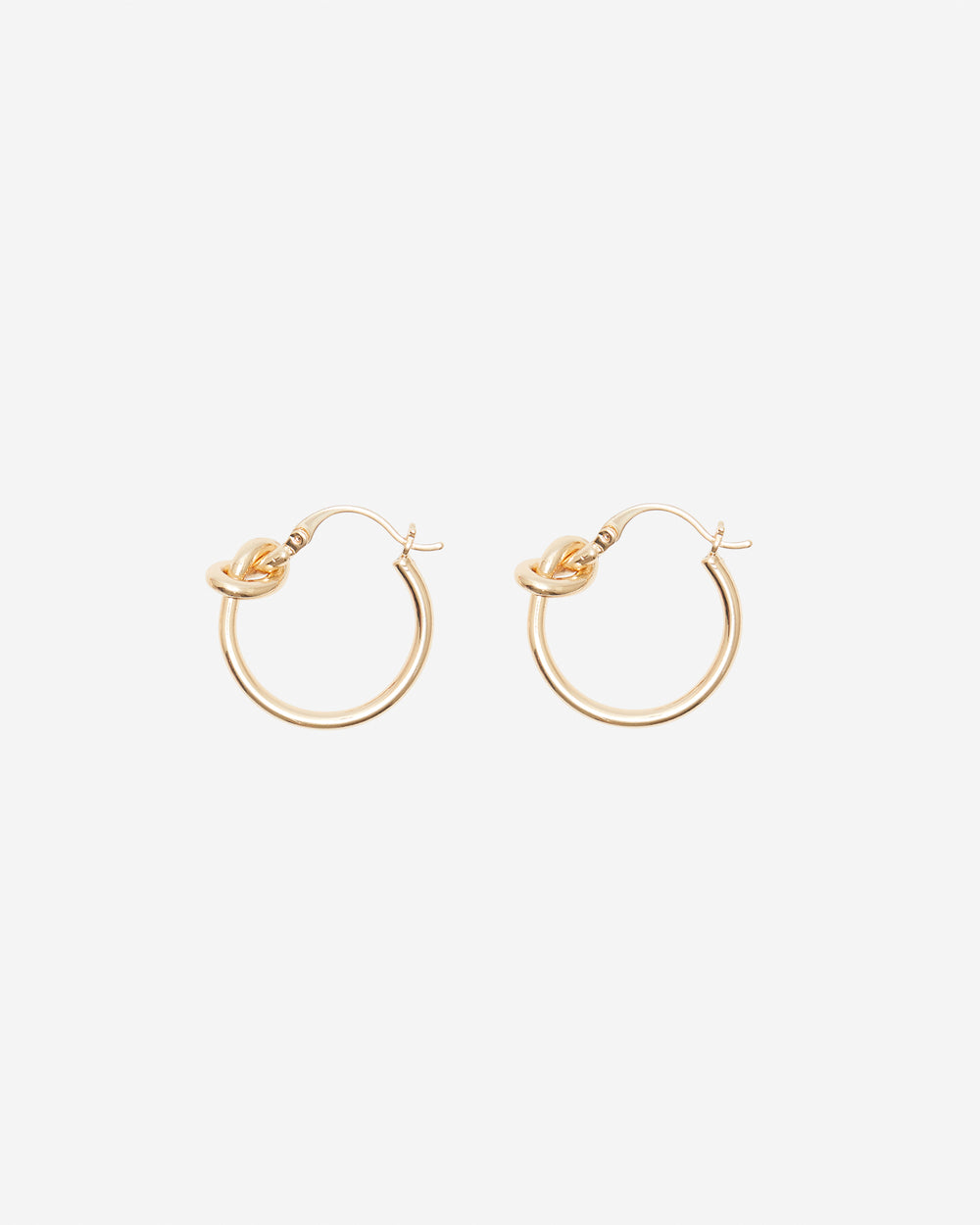 Gold Knot Huggie Earrings