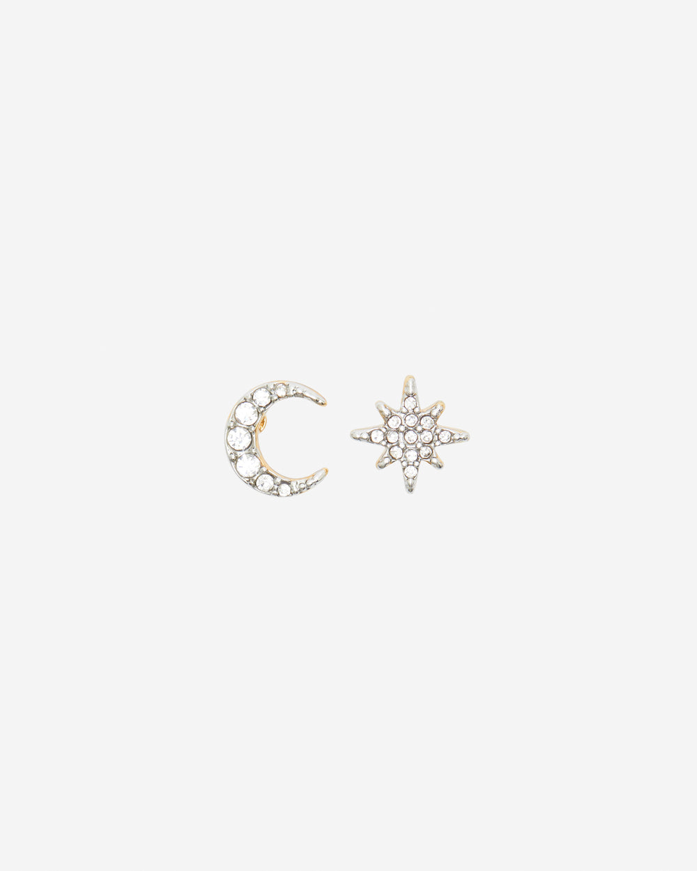 Moon & Star Asymmetrical Earrings