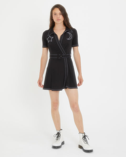 Sabrina Star & Moon Wrap Dress