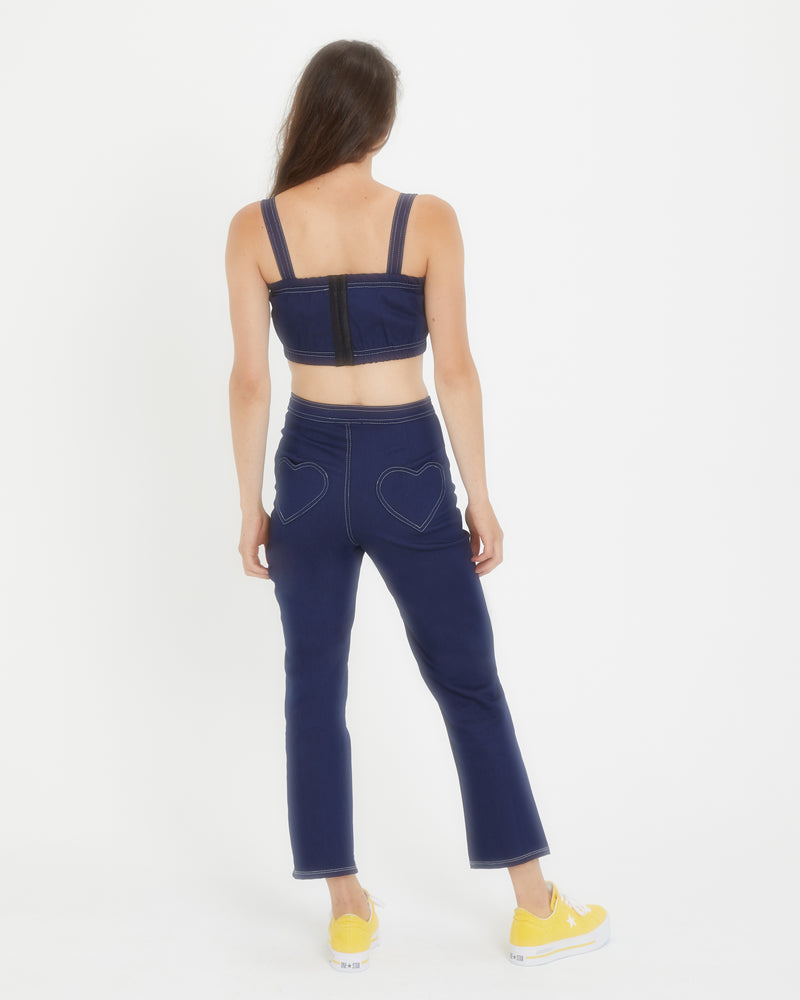 Sylvia Denim Crop Top