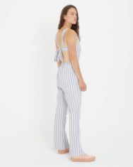 Tie Back Striped Pinafore Jumpsuit