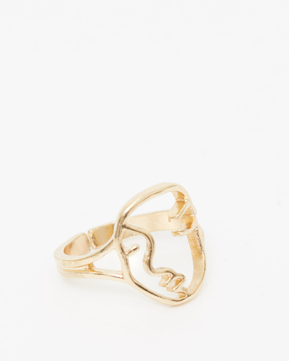 Silhouette Gold Ring