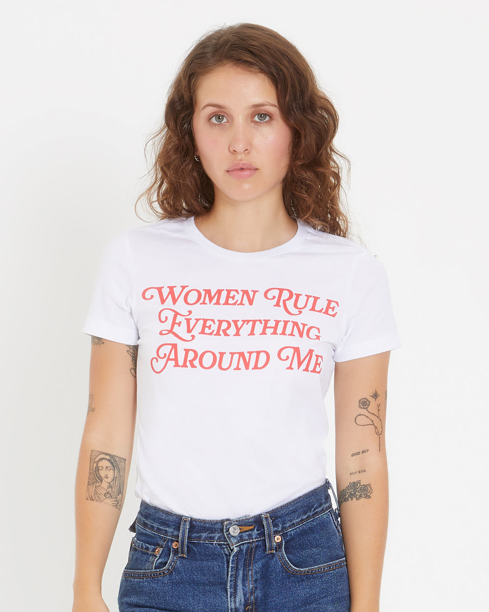 Women Rule Everything Around Me Tee (Red)