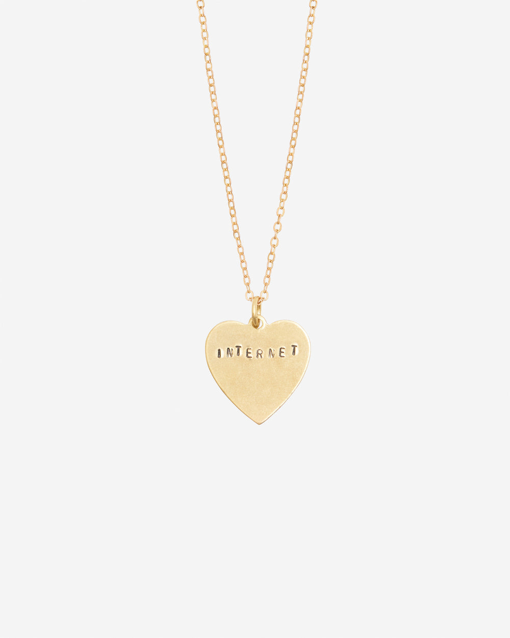 Internet Hand-Stamped Necklace