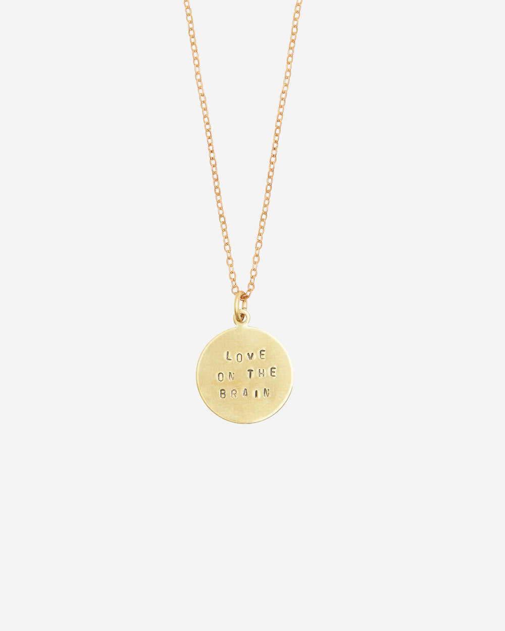 Love On The Brain Hand-Stamped Necklace