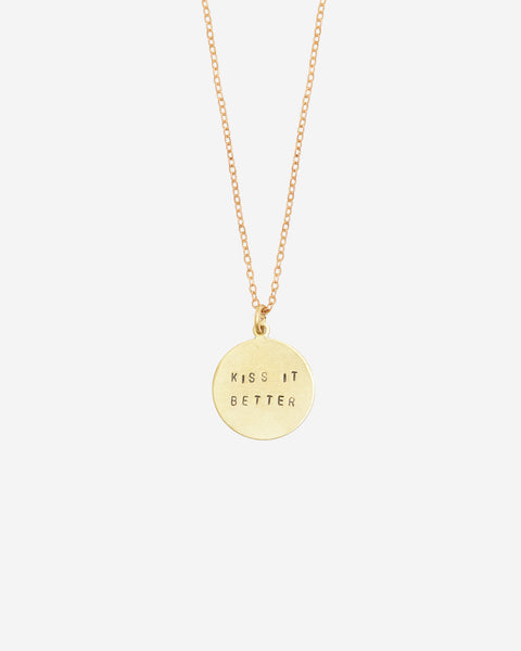 Kiss It Better Hand-Stamped Necklace