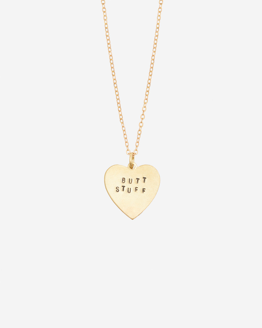 Butt Stuff Hand-Stamped Necklace