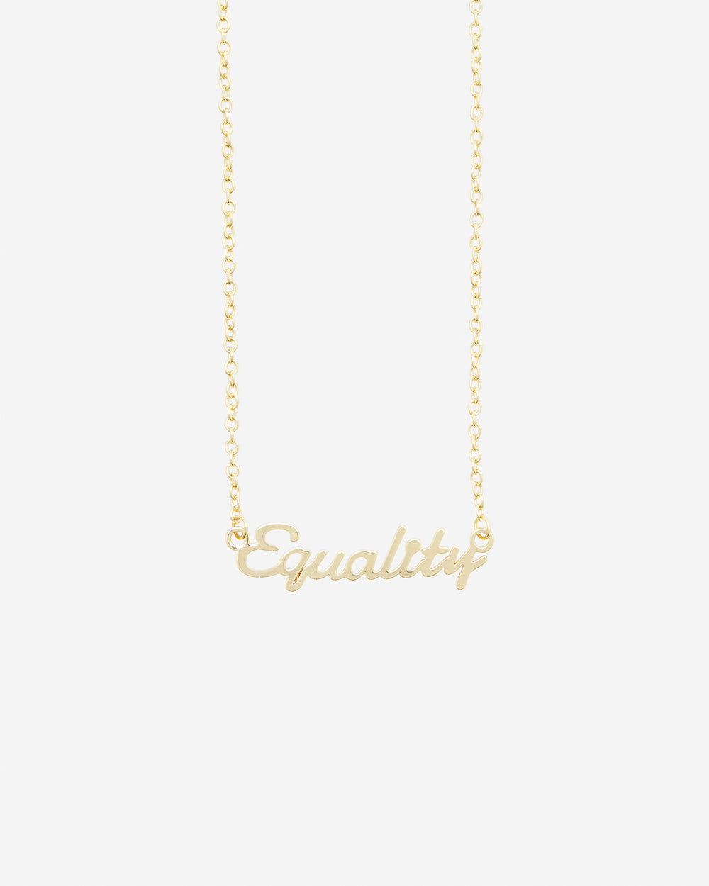 Equality Nameplate Necklace
