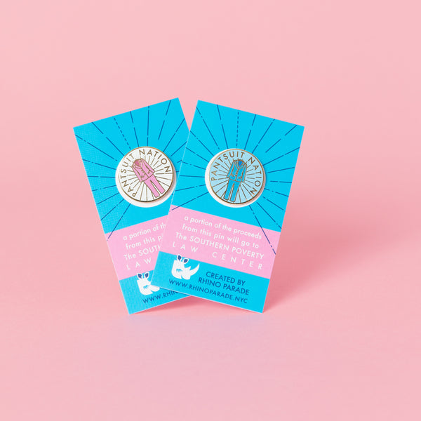 Pantsuit Nation Enamel Pin (Pink & Blue)