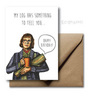Twin Peaks Log Lady Card