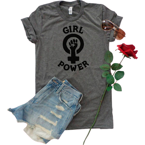 """Girl Power"" Feminist Fist Tee"