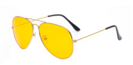 Yellow Aviator Sunglasses