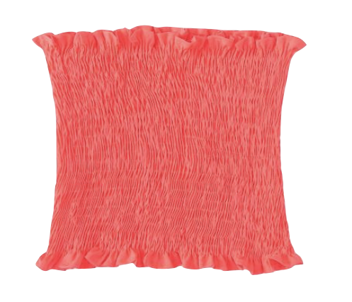 Shirred Neon Pink Bandeau Top