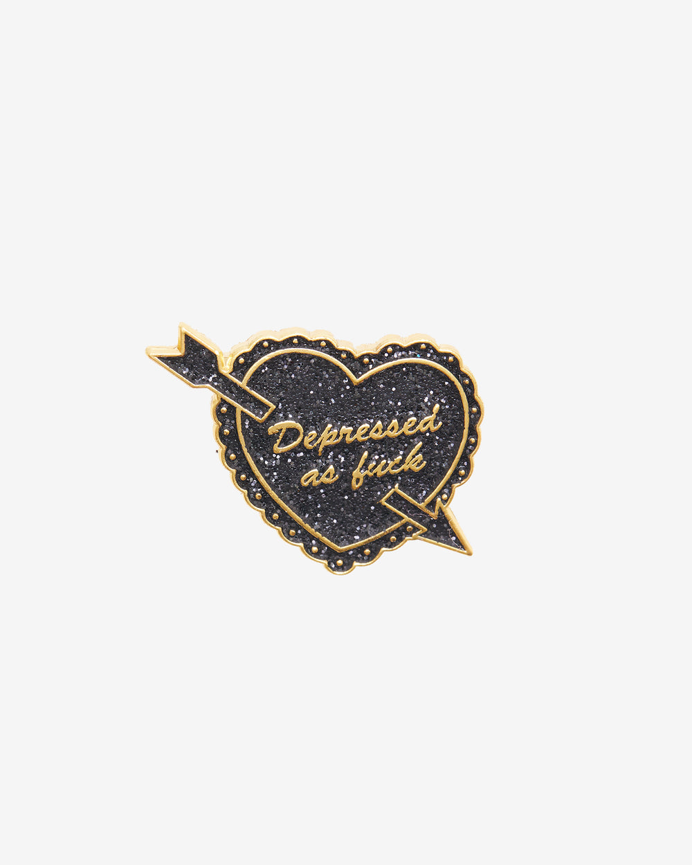 Depressed AF Glitter Pin